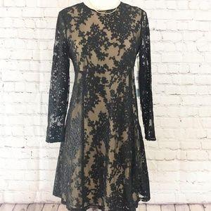 CECE Cynthia Steffe Asha Burnout Mesh Dress